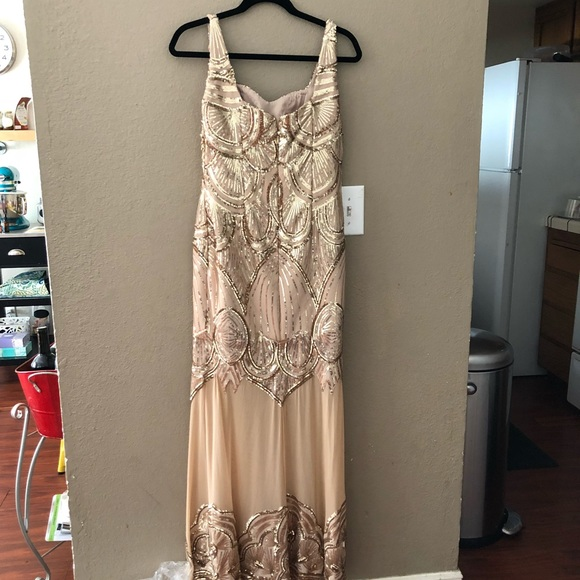 Dresses Gold Old Hollywood Detailed Prom Dress Very Sexy Poshmark